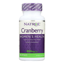 Load image into Gallery viewer, Cranberry Extract Supplements - 30 800mg capsules