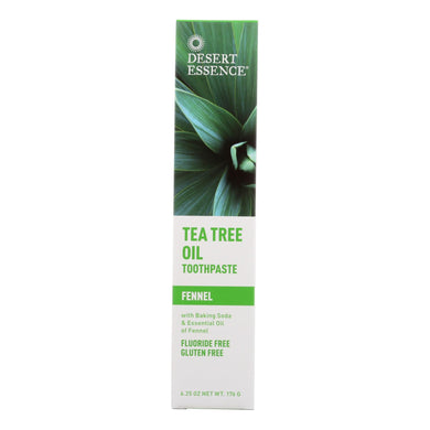 Tea Tree Toothpaste, Fennel - 6.4 oz