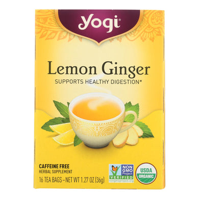 Caffeine-Free Lemon Ginger Tea - 16 Tea Bags
