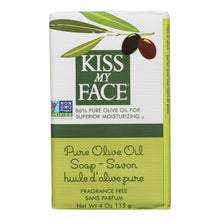Load image into Gallery viewer, Kiss My Face Bar Soap Pure Olive Oil Fragrance Free - 4 Oz