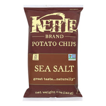Load image into Gallery viewer, Kettle Brand Potato Chips - Sea Salt - Case Of 15 - 5 Oz.