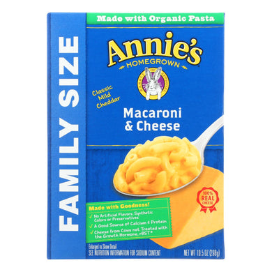 Annie's Homegrown Classic Family Size Macaroni And Cheese - Case Of 6 - 10.5 Oz.