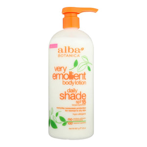 Alba Botanica - Very Emollient Natural Body Lotion Spf 15 - 32 Fl Oz