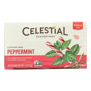 Celestial Seasonings Herbal Tea - Peppermint - Caffeine Free - 20 Bags
