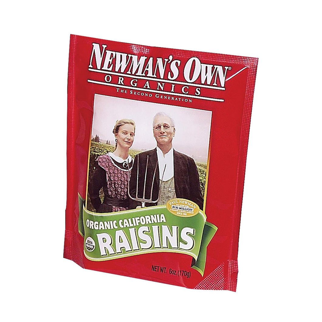 Newman's Own Organics California - Raisins - Case Of 12 - 6 Oz.