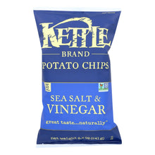 Load image into Gallery viewer, Kettle Brand Potato Chips - Sea Salt And Vinegar - Case Of 12 - 8.5 Oz.
