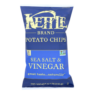 Kettle Brand Potato Chips - Sea Salt And Vinegar - Case Of 12 - 8.5 Oz.
