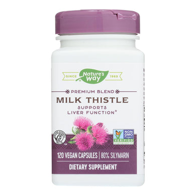 Nature's Way - Milk Thistle Standardized - 120 Vegetarian Capsules