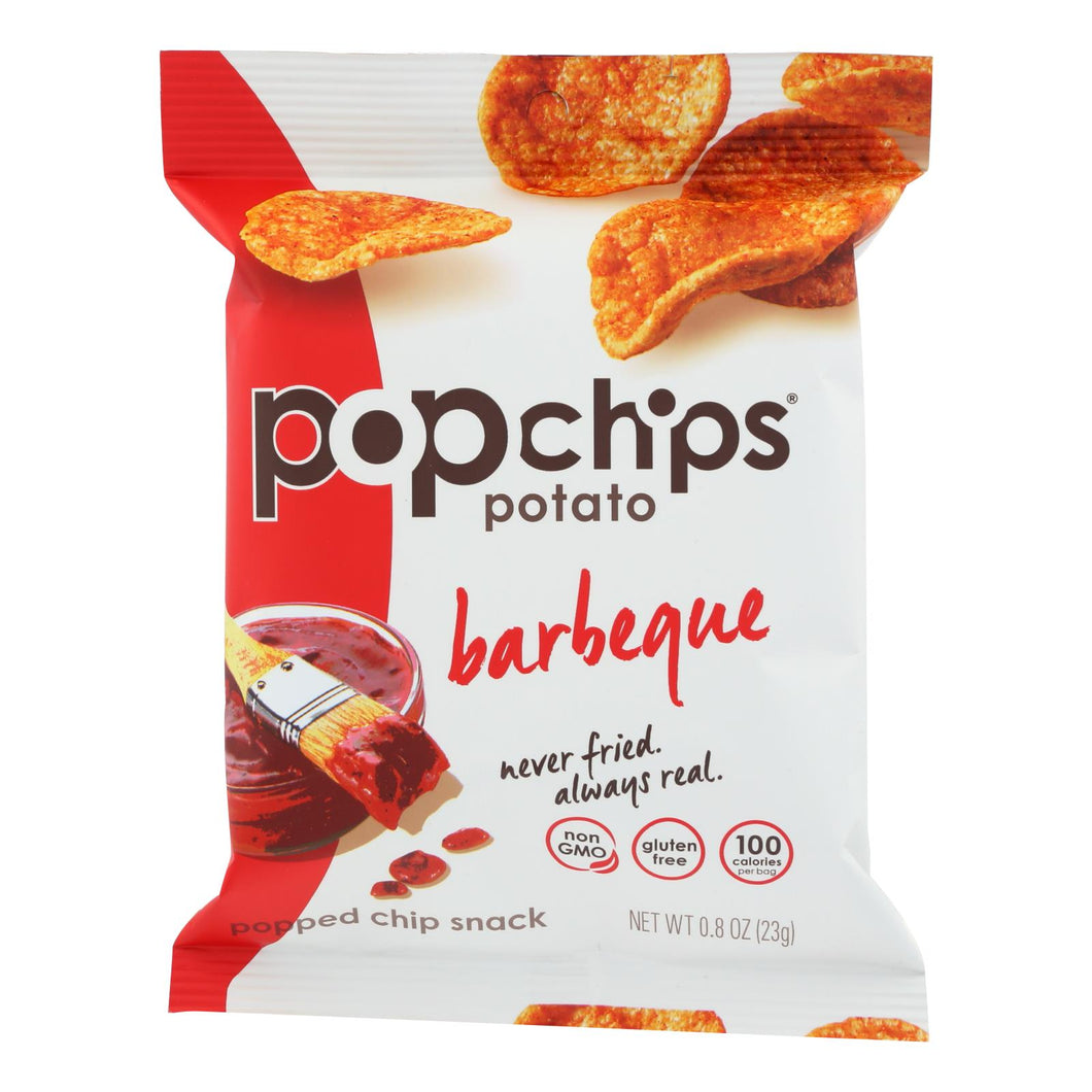 Popped Potato Chips, BBQ - Pack of 24 0.8-oz bags