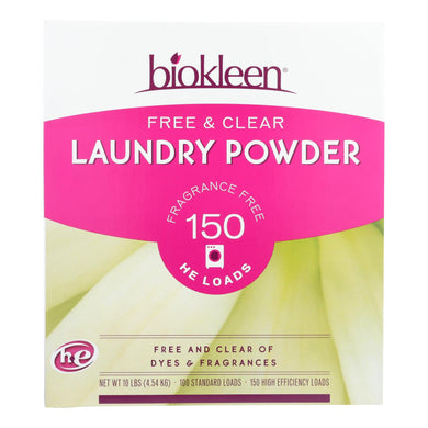 Plant-Based Laundry Powder, Free and Clear - 10 lb