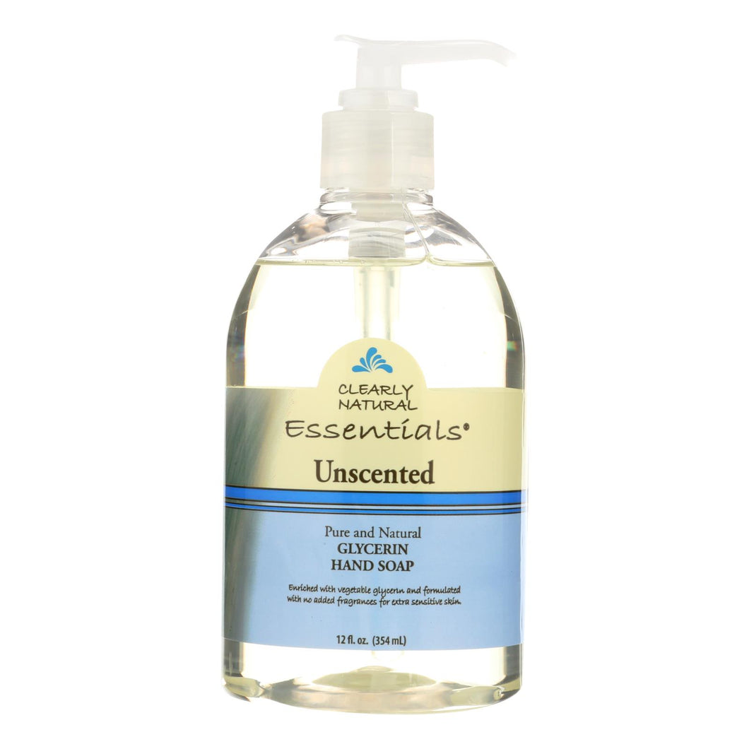 Clearly Natural Pure And Natural Glycerine Hand Soap Unscented - 12 Fl Oz