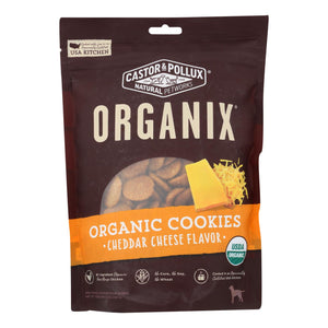 Castor And Pollux Organic Dog Cookies - Cheddar Cheese - Case Of 8 - 12 Oz.