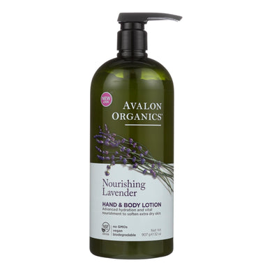 Non-GMO Hand and Body Lotion, Lavender - 32 oz