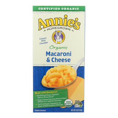 Annies Homegrown Macaroni And Cheese - Organic - Classic - 6 Oz - Case Of 12