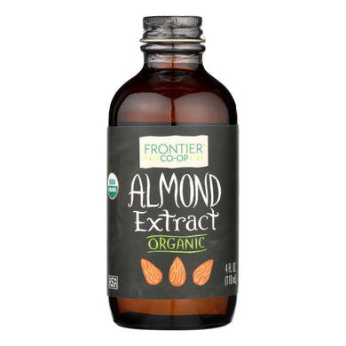 Almond Extract, Organic - 4 oz bottle