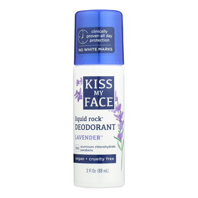 Kiss My Face Deodorant Liquid Rock Roll-on Lavender - 3 Fl Oz