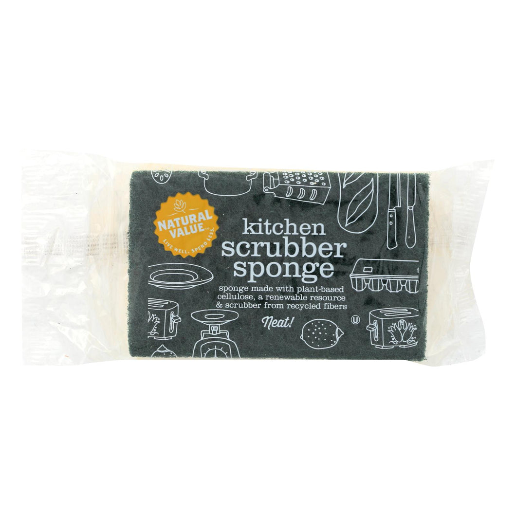 Natural Value Sponges And Scrubbers - Case Of 24 - 1 Count