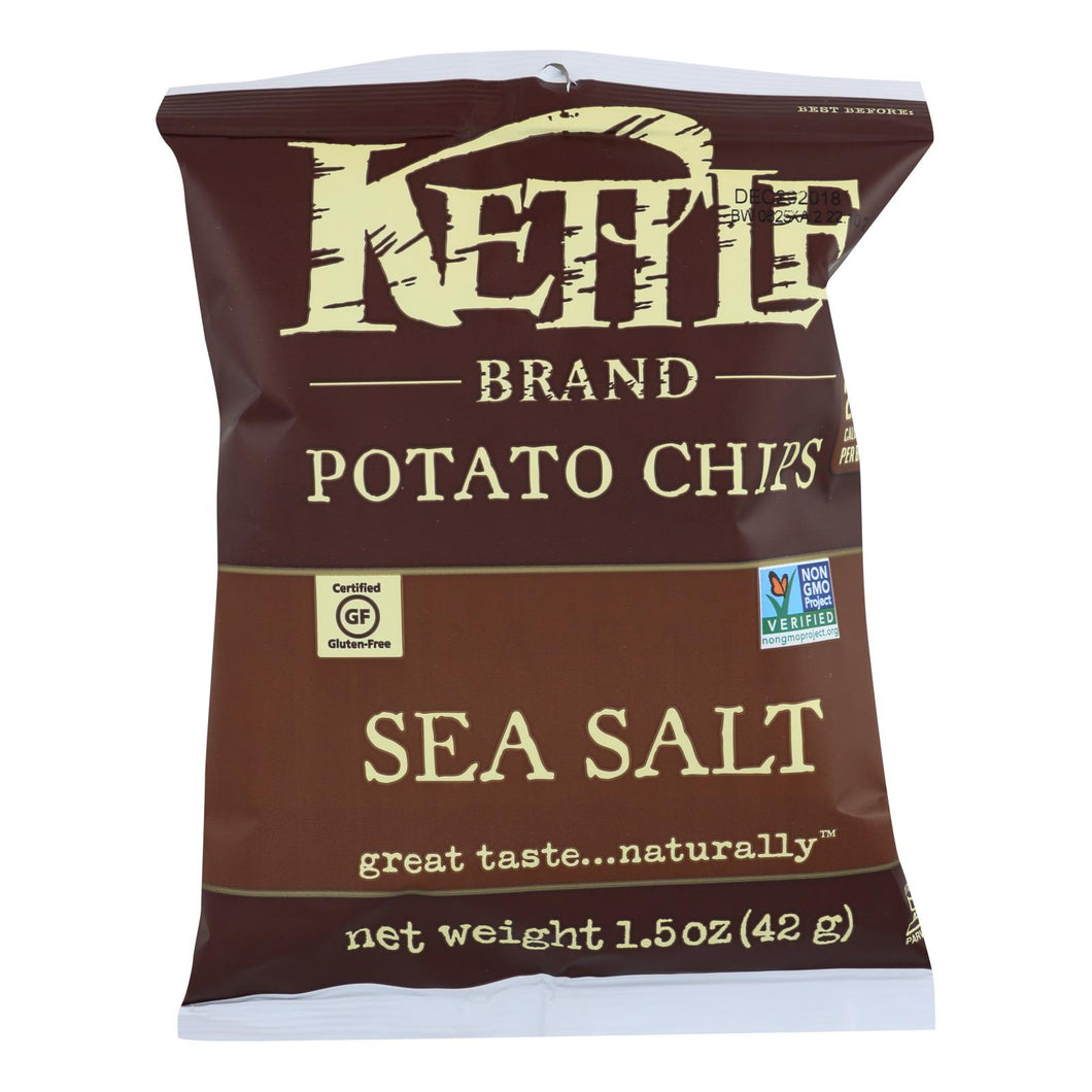Kettle Chips, Sea Salt - Pack of 24 1.5-oz bags