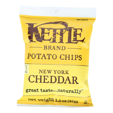 Kettle Chips, Cheddar - Pack of 24 1.5-oz bags
