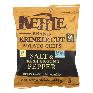 Kettle Chips, Sea Salt and Pepper - Pack of 24 1.5-oz bags