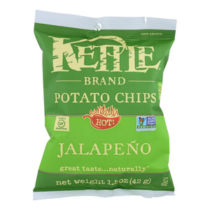Kettle Chips, Jalapeño - Pack of 24 1.5-oz bags