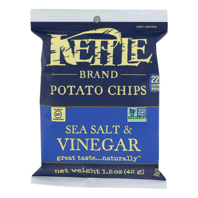 Kettle Chips, Sea Salt and Vinegar - Pack of 24 1.5-oz bags