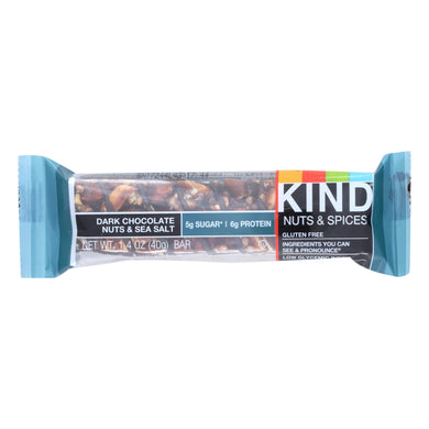 Dark Chocolate Nuts and Sea Salt Bar - Pack of 12 1.4-oz bars