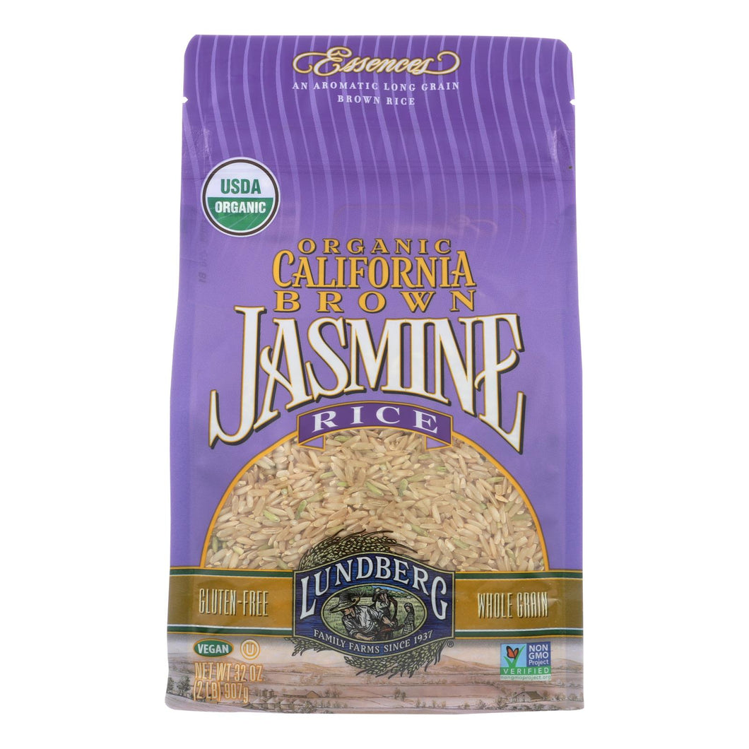 Lundberg Family Farms Brown Jasmine Rice - Case Of 6 - 2 Lb.