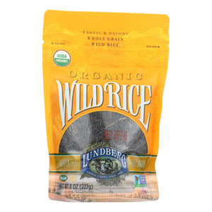 Lundberg Family Farms Organic Wild Rice - Case Of 6 - 8 Oz.