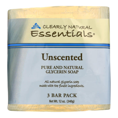 Glycerin Soap, Unscented - 3 4-oz bars