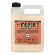 Load image into Gallery viewer, Mrs. Meyer's Clean Day - Liquid Hand Soap Refill - Geranium - Case Of 6 - 33 Fl Oz.