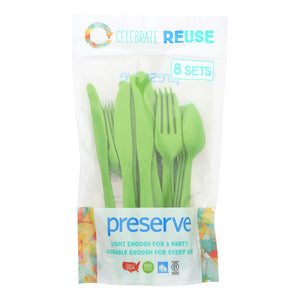 Plastic Cutlery, Apple Green - 24 pack