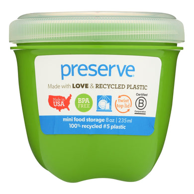 Preserve Mini Food Storage Container - Apple Green - 8 Oz