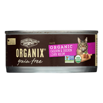 Castor And Pollux Organic Grain Free Cat Food - Chicken And Liver Pate - Case Of 24 - 5.5 Oz.
