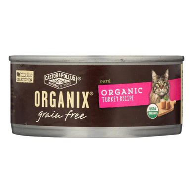 Organic Wet Cat Food, Turkey Pate - Pack of 24 5.5-oz cans
