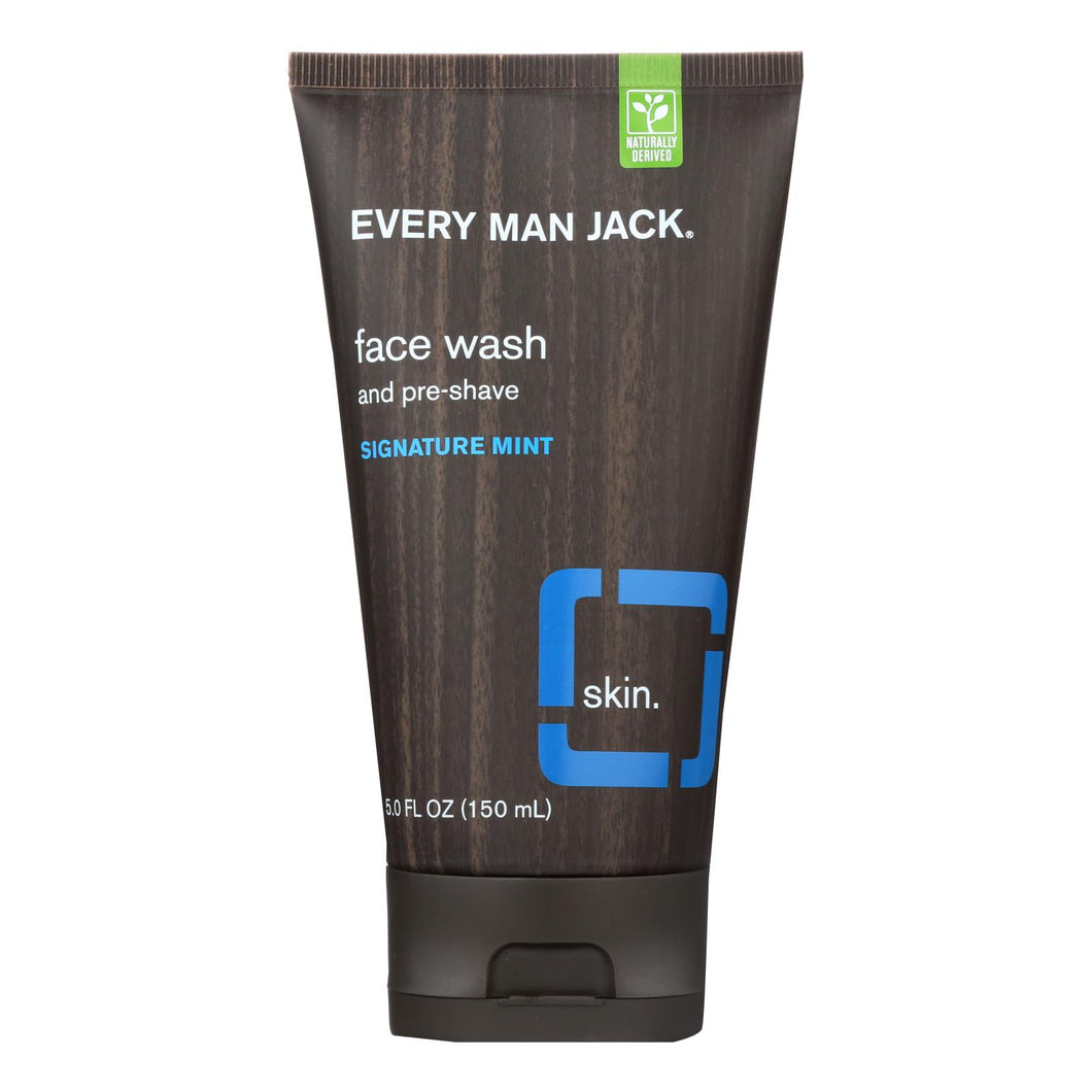 Face Wash and Pre-Shave, Mint - 5 oz