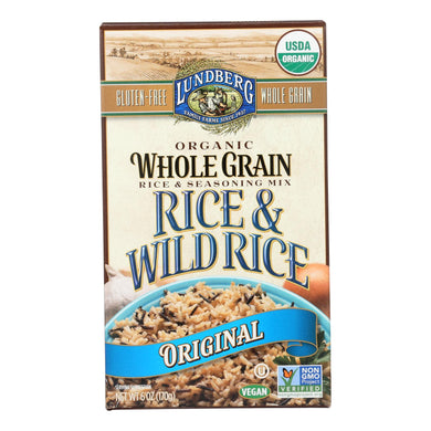 Lundberg Family Farms Organic Whole Grain Original Wild Rice - Case Of 6 - 6 Oz.