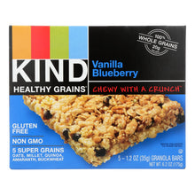 Load image into Gallery viewer, Kind Bar - Granola - Healthy Grains - Vanilla Blueberry - 1.2 Oz - 5 Count - Case Of 8