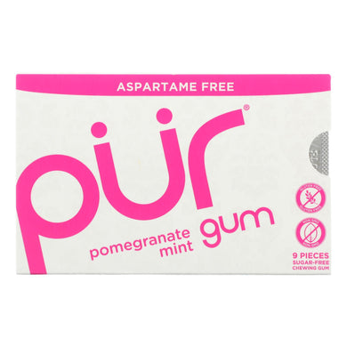 Xylitol Gum, Pomegranate Mint - Box of 12 0.45-oz packs