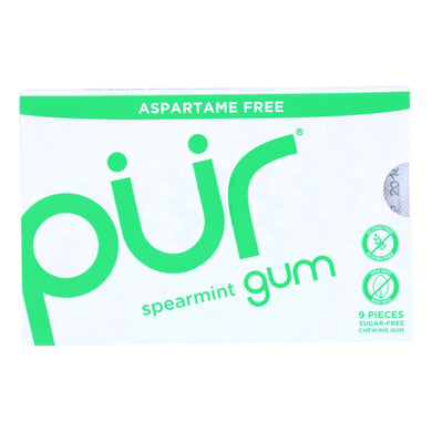 Xylitol Gum, Spearmint - Box of 12 0.45-oz packs