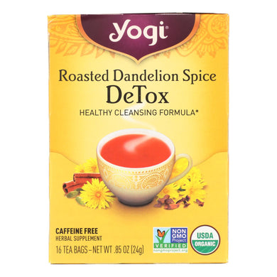 Roasted Dandelion Detox Tea - Pack of 6 16-bag boxes