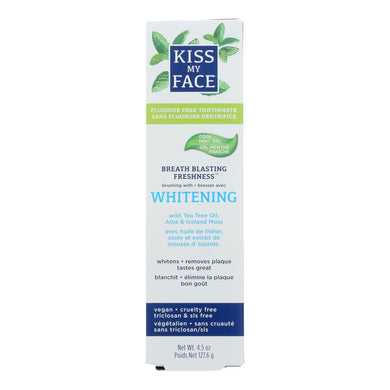 Kiss My Face Toothpaste - Whitening - Fluoride Free - Gel - 4.5 Oz
