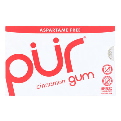 Xylitol Gum, Cinnamon - Box of 12 0.45-oz packs