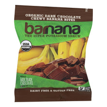 Load image into Gallery viewer, Banana Bites, Chocolate - Pack of 12 1.4-oz bags