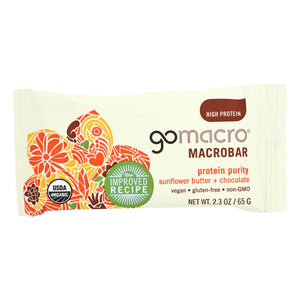 Organic Macrobiotic Bar, Sunflower Butter Chocolate - Pack of 12 2.3-oz bars