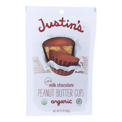 Justin's Nut Butter Peanut Butter Cups - Organic - Milk Chocolate - Mini - Case Of 6 - 4.7 Oz.
