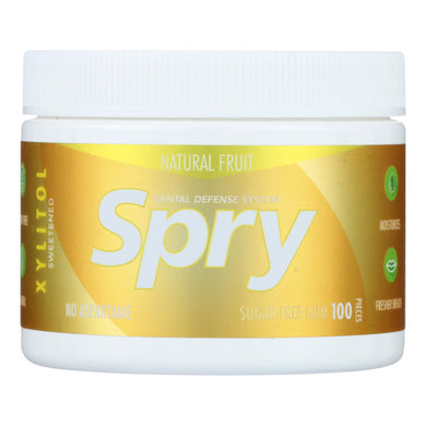 Spry Chewing Gum - Fresh Fruit - 100 Count
