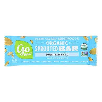 Sprouted Seed Raw Bars, Pumpkin Seed - Pack of 10 0.49-oz bars