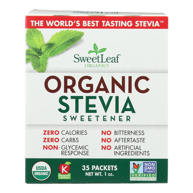 Organic Stevia Sweetener - 35 packets