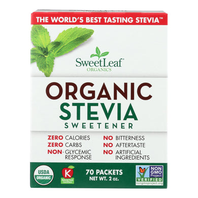 Organic Stevia Sweetener - 70 packets